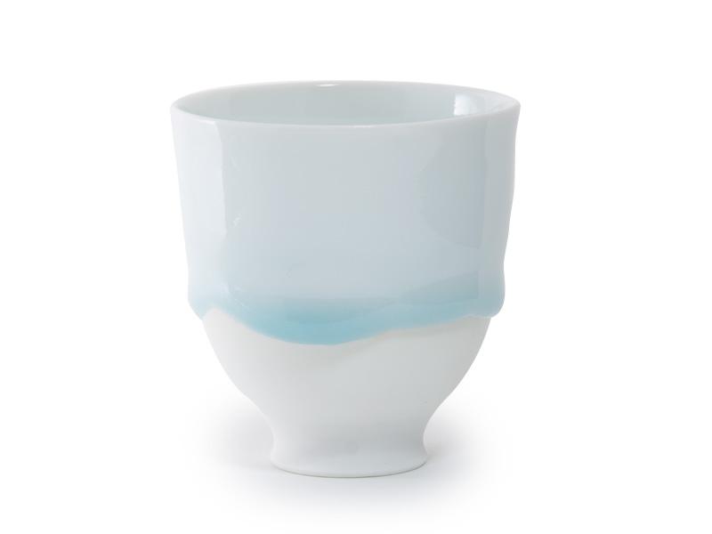 Arita-yaki Shizuku porcelain cup by Nishi Takayuki, 120ml