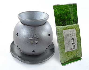"Cherry blossom chakoro ""incense burner"" for tea"