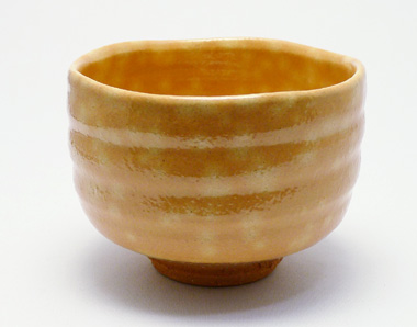 Raku-shaped Hagi-yaki matcha bowl