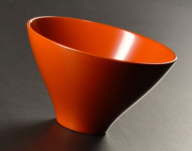 Echizen lacquer cup, red orange, 80 ml (2.7 oz)