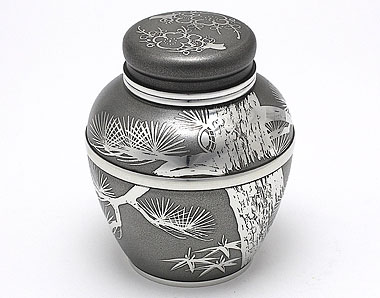 Tin tea jar, ibushi