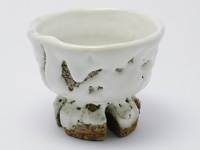 """Oni-hagi""-glazed Hagi-yaki cup by Yamane Seigan, 120 ml / 4 oz."