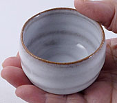 White Hagi-yaki cup, 100 ml / 3.4 oz.