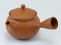 Red Tokoname-yaki kyûsu teapot by Shôryû, 240ml (8.1 oz)