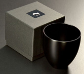 Echizen lacquer cup, matt black, 150 ml (5 oz)